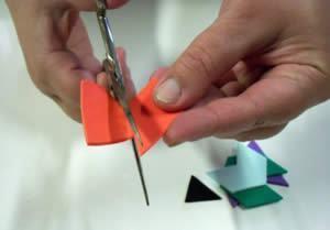 cortando as peças