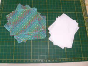 Necessáire em patchwork - recortes
