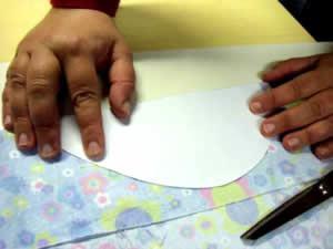 corte do tecido - parte da frente