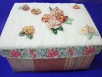caixa reciclada de costura