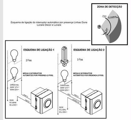 sensor de presença esquema