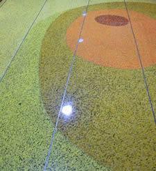 Piso de concreto colorido