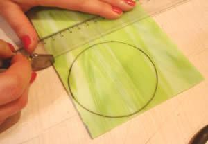 direção do corte do vidro