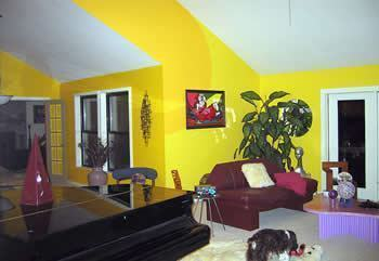 como decorar as paredes e tetos da sua sala