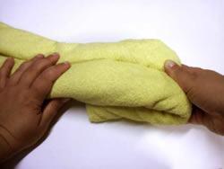 Origami de animais em  toalhas - arraia inicio