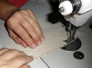 costura das partes