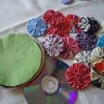 Como fazer artesanato com Fuxico de Tecido