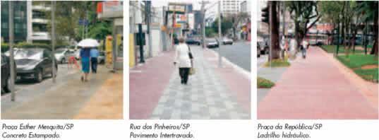 tipos de calçadas