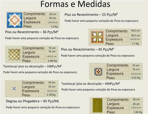 Pisos ceramicos - medidas e formas das placas ceramicas