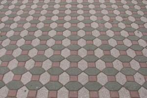 Calçada com piso intertravado