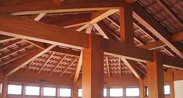 Meia tesoura de madeira para telhado