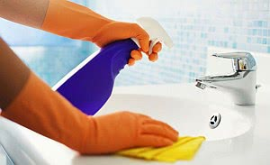 limpeza da pia banheiro