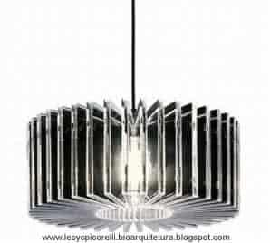 Decoração do 1o apto - luminaria reciclavel