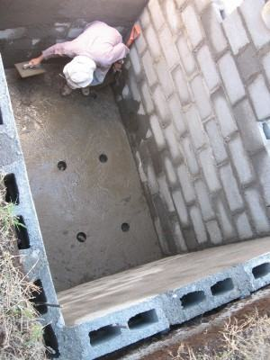 Construindo uma fossa  RETANGULAR  !