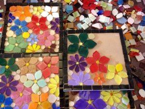 mosaico base vidro