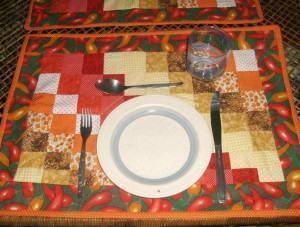 """Jogo americano para embelezar sua mesa """"Bargello"""""""