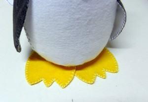 Pinguim de Feltro, patas