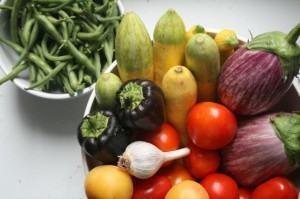 Vegetais típicos de uma horta orgânica
