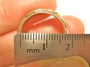 como medir o tamanho do anel