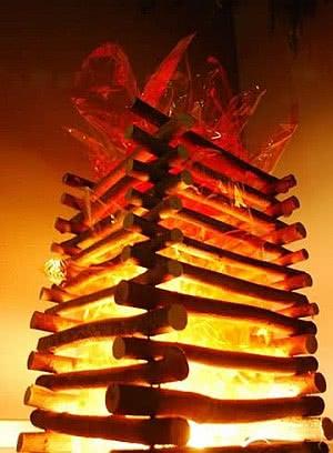 fogueira vertical