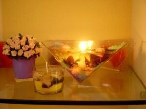 Como fazer uma vela gel com enfeites