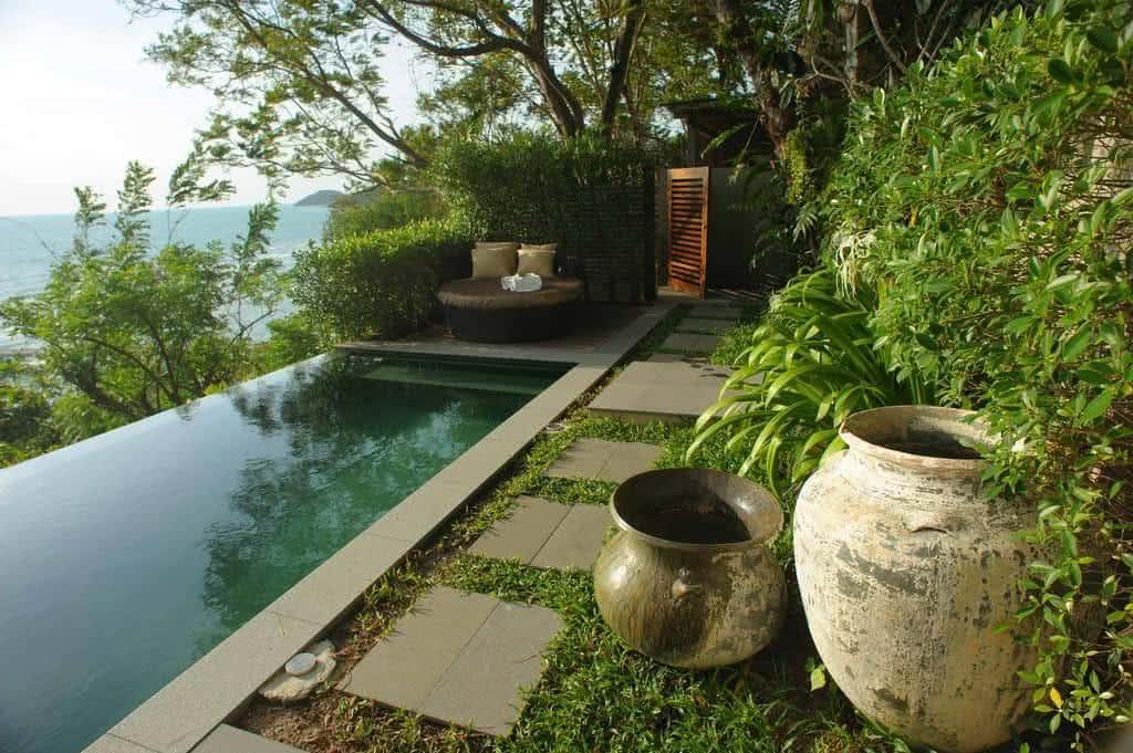 Jardim de piscina fazf cil for Jardim na piscina