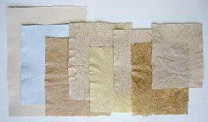 amostras papel reciclado