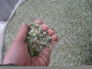 reciclagem do vidro - particulas de vidro