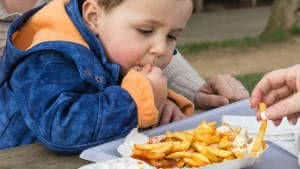 menino batata frita