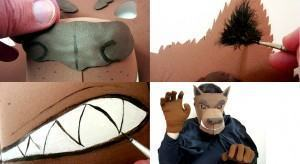 Máscara de Lobisomem  para Halloween. Em EVA!