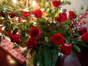 Arranjo natalino com rosas!