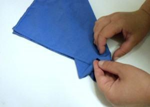 dobra plissada de guardanapos -4
