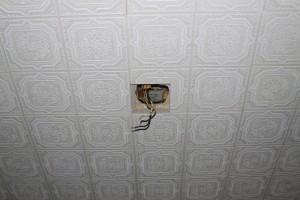 fiação teto ventilador