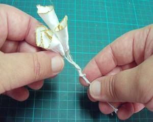 como fazer flores cetim