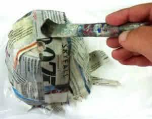 Reciclagem do Papel - fazendo embalagem