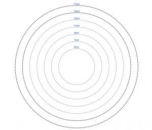 Moldes circulares para Fuxico