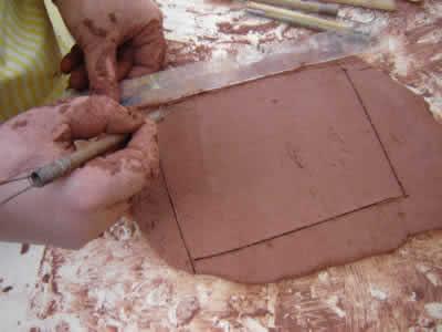 Placa de cerâmica - argila