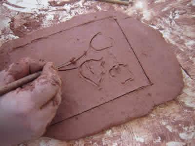 Placa de cerâmica - argila ll