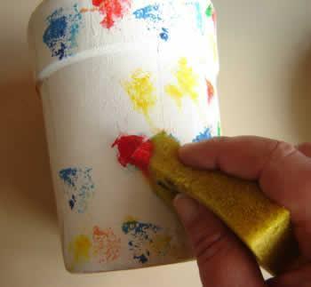 pintura esponjado