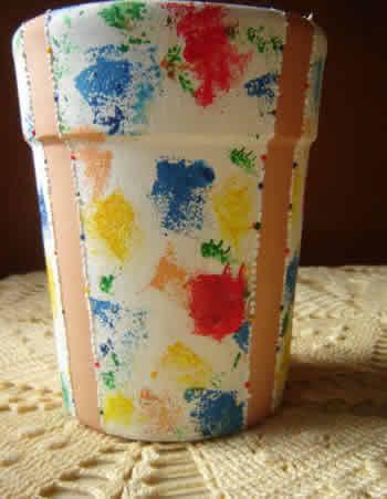 Pintura esponjado - vaso pronto