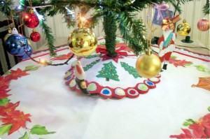 Arvore de natal, decoração Natalina – Cobre pé de árvore…