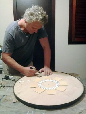 Mandala em mosaico - artista Gerson Portela