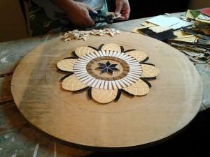 Mandala em mosaico - centro