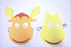 Como fazer máscaras dos Backyardigans: Tyrone e Tasha