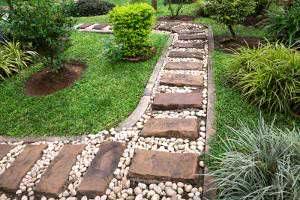 caminho de jardim pedras