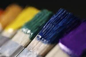 pinceis cores