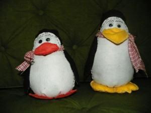 Pinguim de Feltro – Como fazer de feltro ou pelúcia c/molde