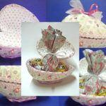 Embalagem de Páscoa: Caixa de Presentes com Ovo de Isopor