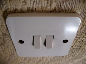 Caixas de passagem das tomadas e dos interruptores