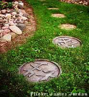 Jardim Oriental - caminho curvo